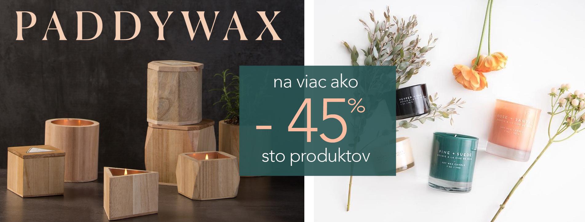 zlava 45% | Paddywax
