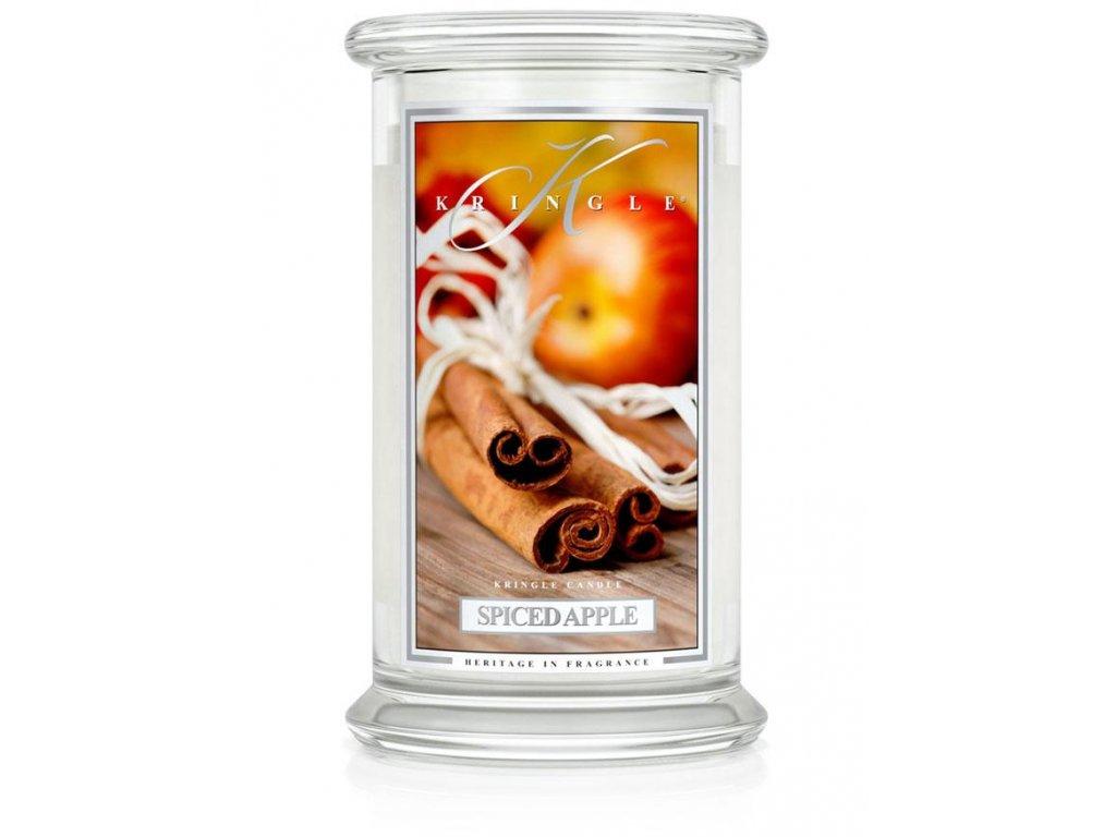 Kringle Candle Spiced Apple vonná sviečka veľká 2-knôtová (624 g)