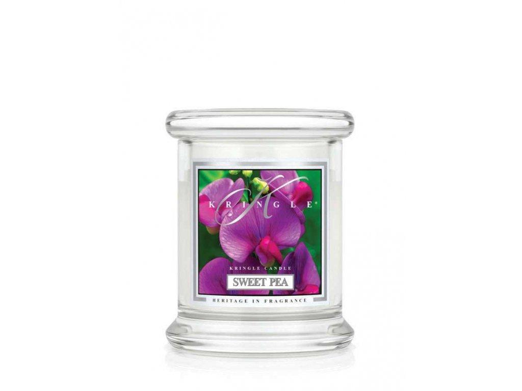 Kringle Candle Sweet Pea vonná sviečka mini 1-knôtová (127 g)