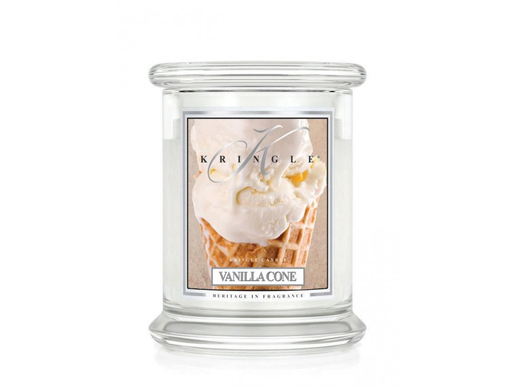 Kringle Candle Vanilla Cone vonná sviečka stredná 2-knôtová (411 g)