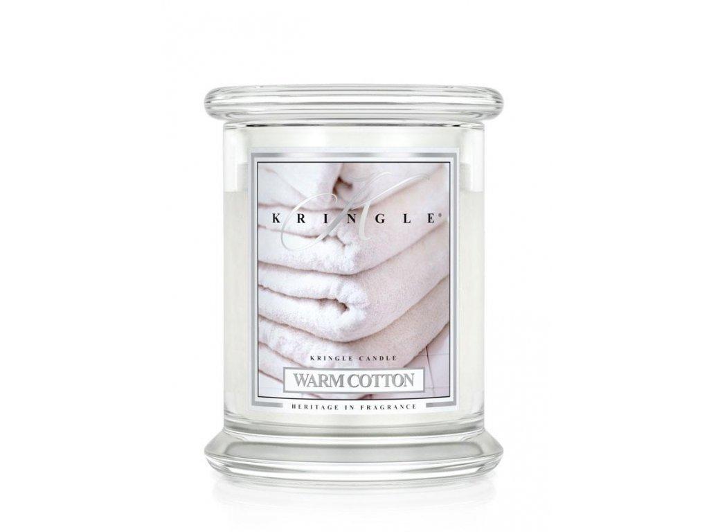 Kringle Candle Warm Cotton vonná sviečka stredná 2-knôtová (411 g)