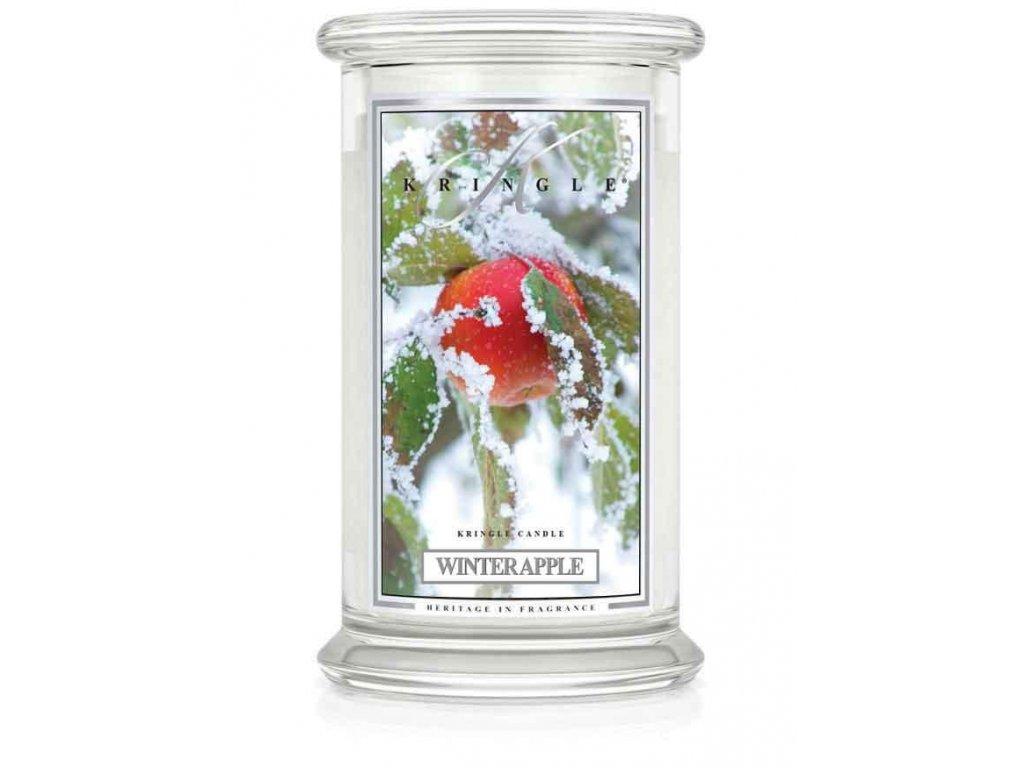 Kringle Candle Winter Apple vonná sviečka veľká 2-knôtová (624 g)
