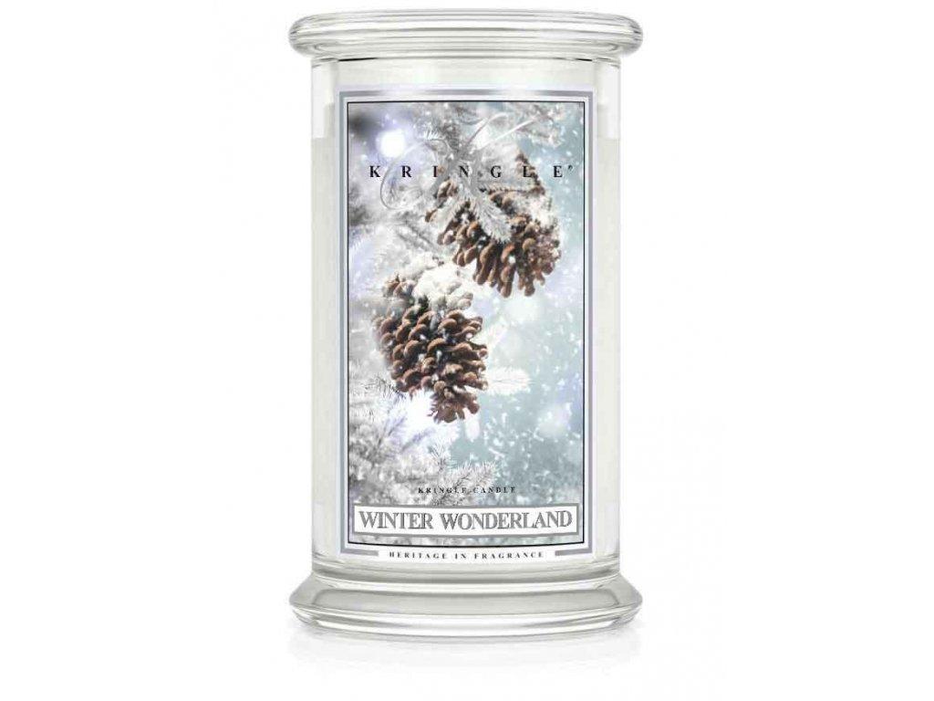 Kringle Candle Winter Wonderland vonná sviečka veľká 2-knôtová (624 g)