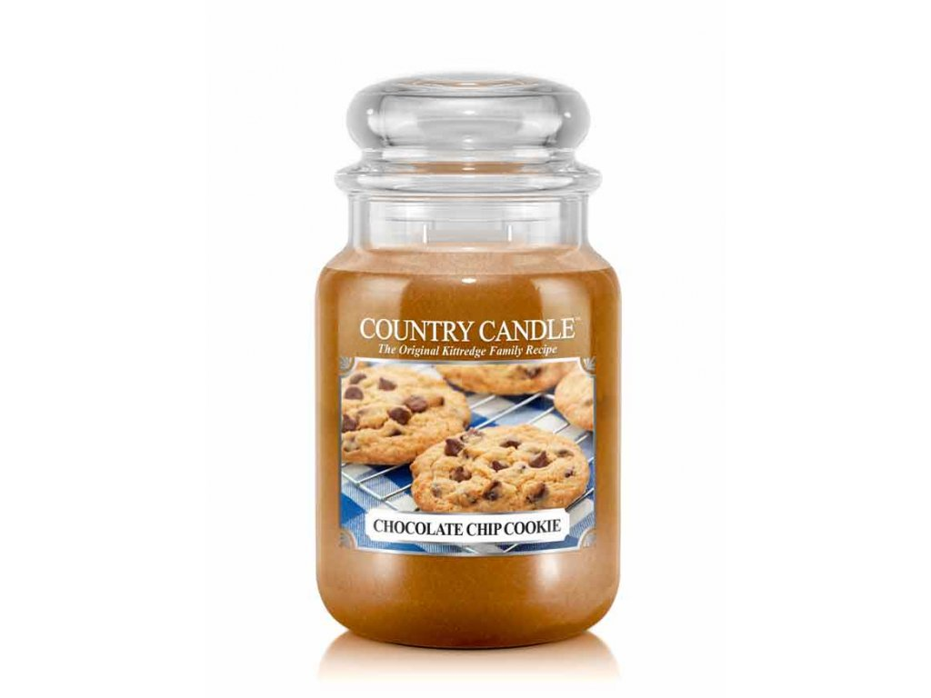 COUNTRY CANDLE Chocolate Chip Cookie vonná sviečka veľká 2-knôtová (652 g)