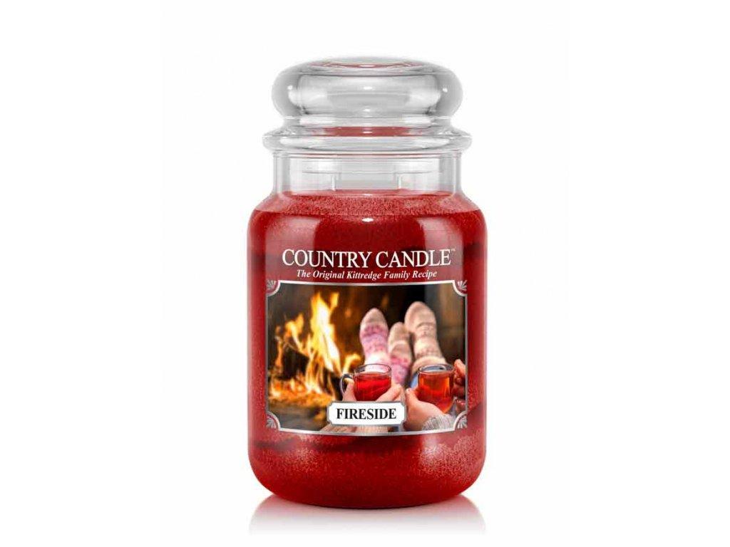 COUNTRY CANDLE Fireside vonná sviečka veľká 2-knôtová (652 g)