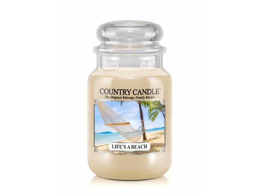 COUNTRY CANDLE Life's A Beach vonná sviečka veľká 2-knôtová (652 g)
