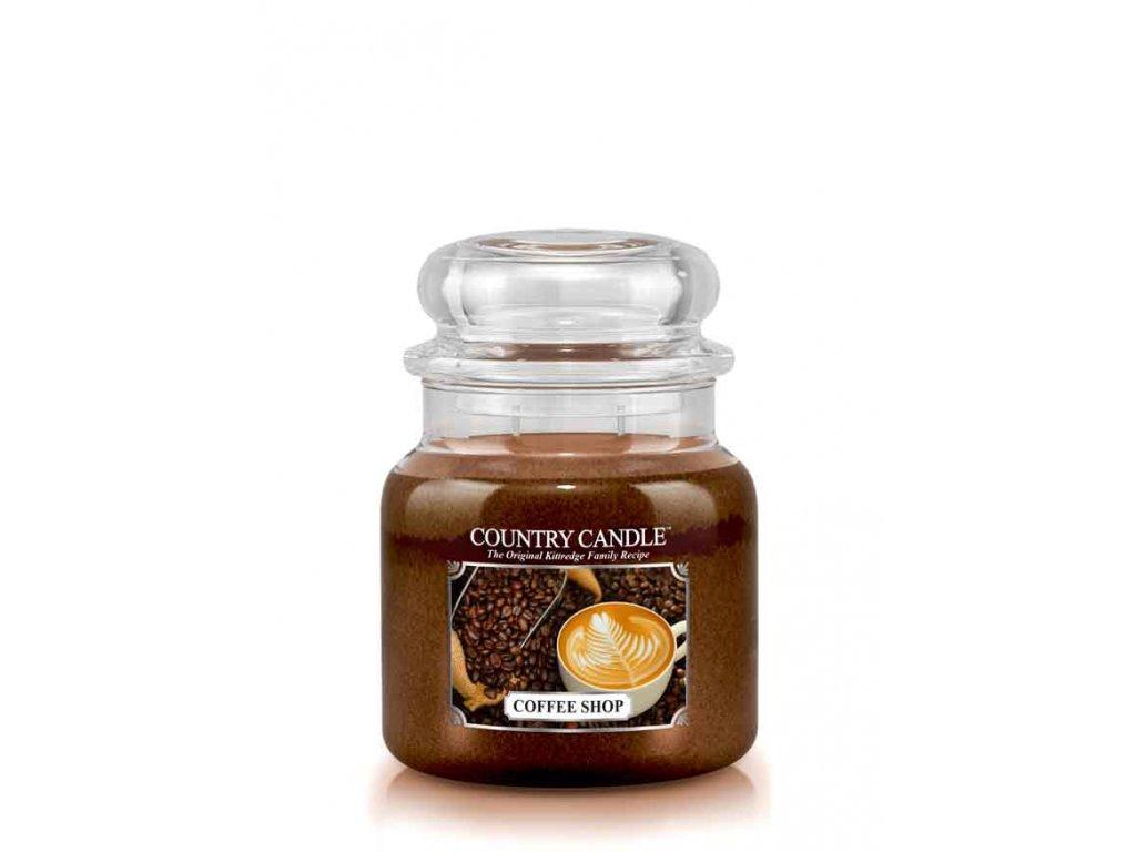 COUNTRY CANDLE Coffee Shop vonná sviečka stredná 2-knôtová (453 g)