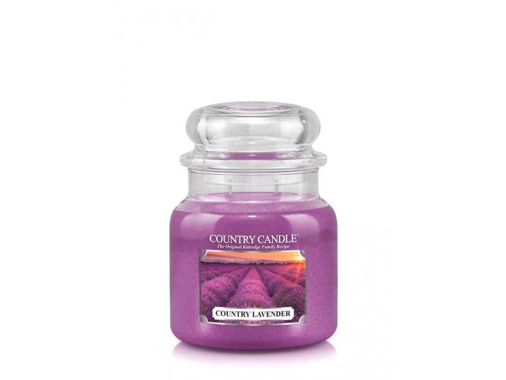 COUNTRY CANDLE COUNTRY Lavender vonná sviečka stredná 2-knôtová (453 g)