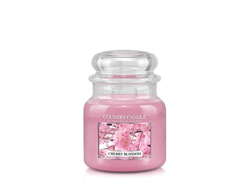 COUNTRY CANDLE Cherry Blossom vonná sviečka stredná 2-knôtová (453 g)