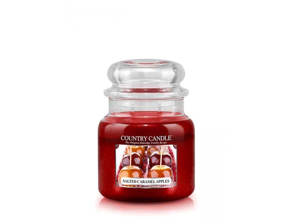 COUNTRY CANDLE Salted Caramel Apples vonná sviečka stredná 2-knôtová (453 g)