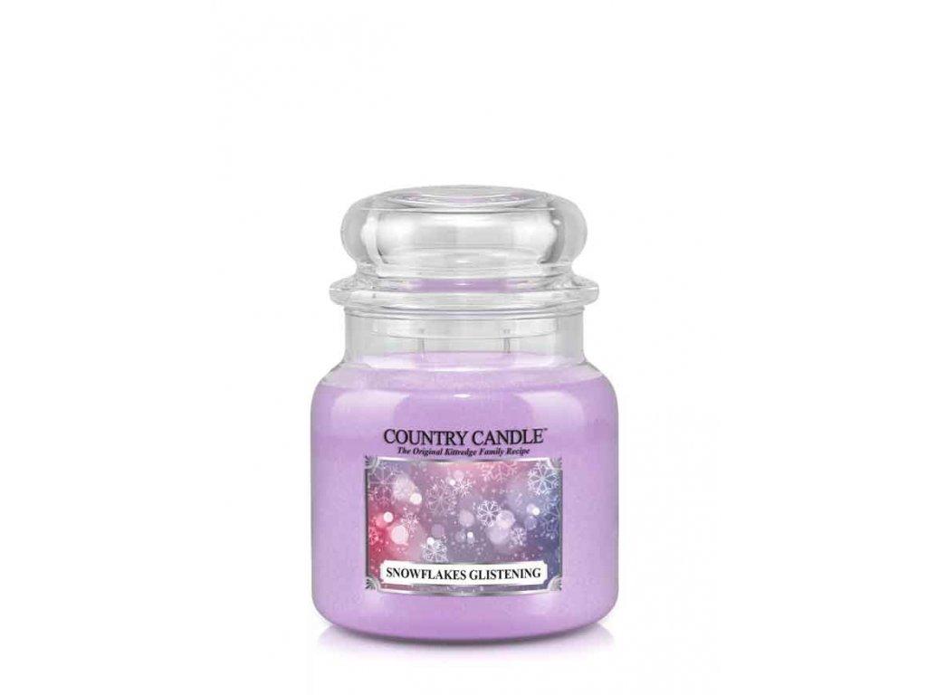 COUNTRY CANDLE Snowflakes Glistening vonná sviečka stredná 2-knôtová (453 g)