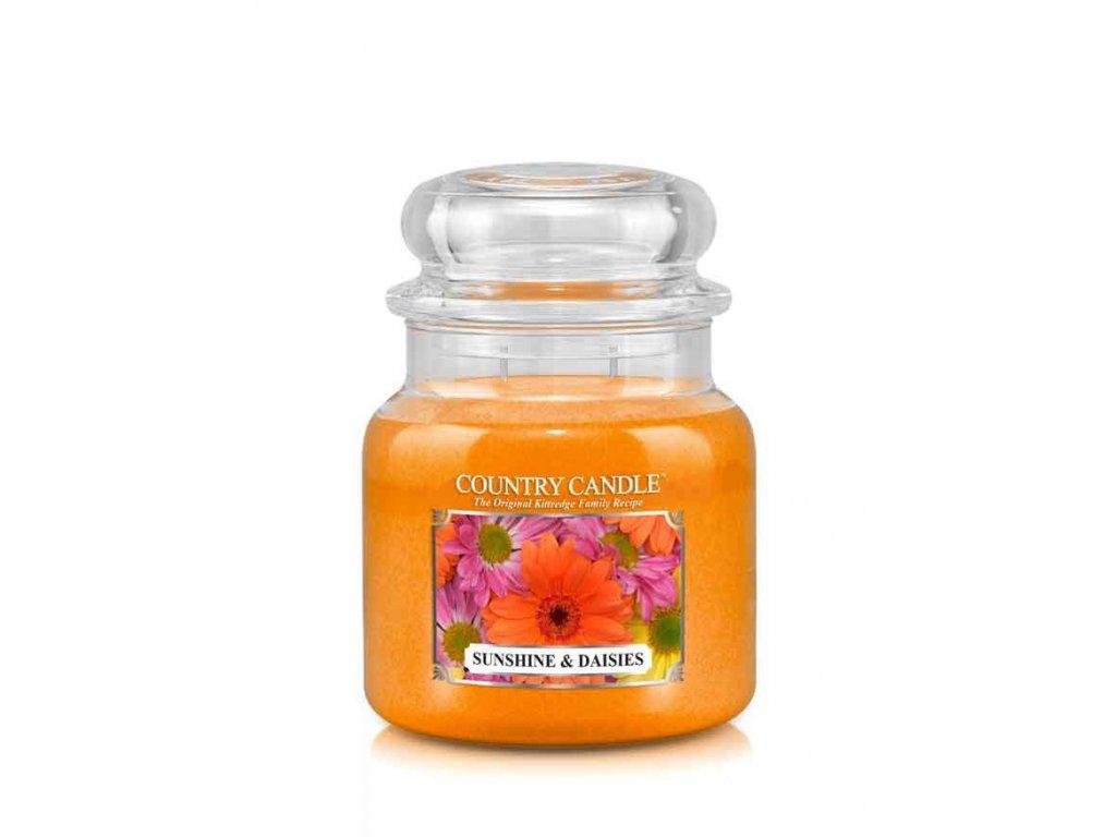 COUNTRY CANDLE Sunshine & Daisies vonná sviečka stredná 2-knôtová (453 g)