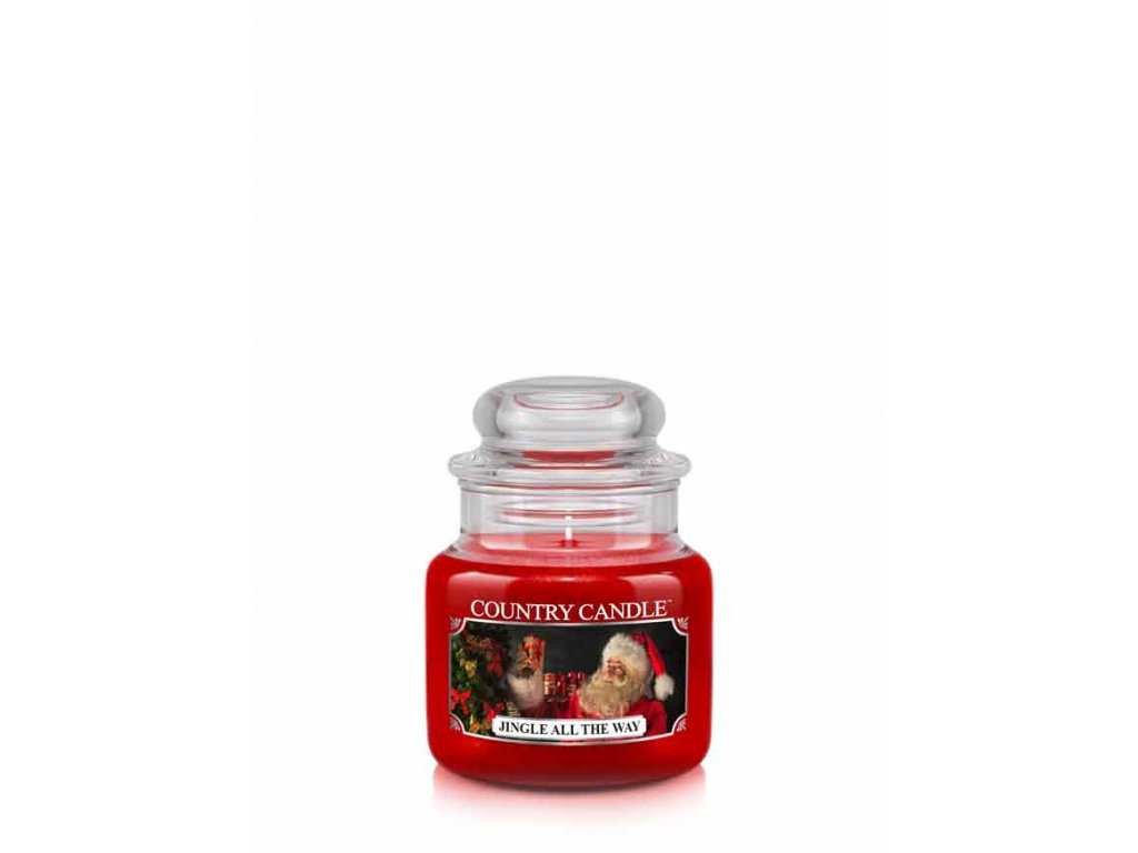 COUNTRY CANDLE Jingle All The Way vonná sviečka mini 1-knôtová (104 g)