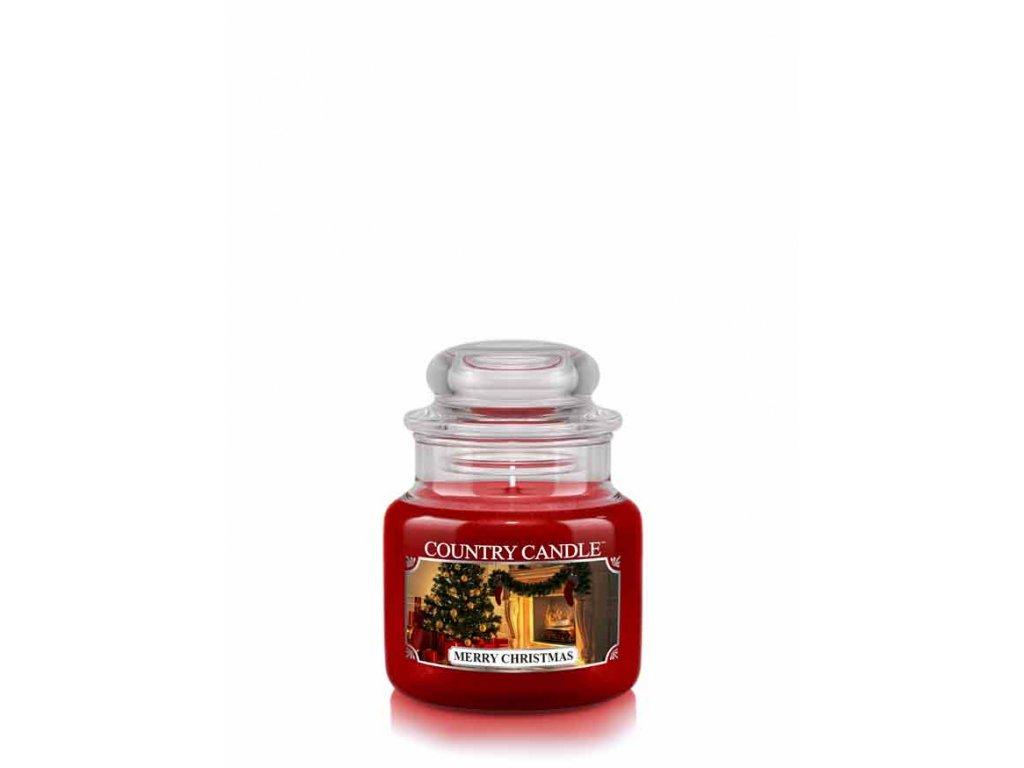 COUNTRY CANDLE Merry Christmas vonná sviečka mini 1-knôtová (104 g)