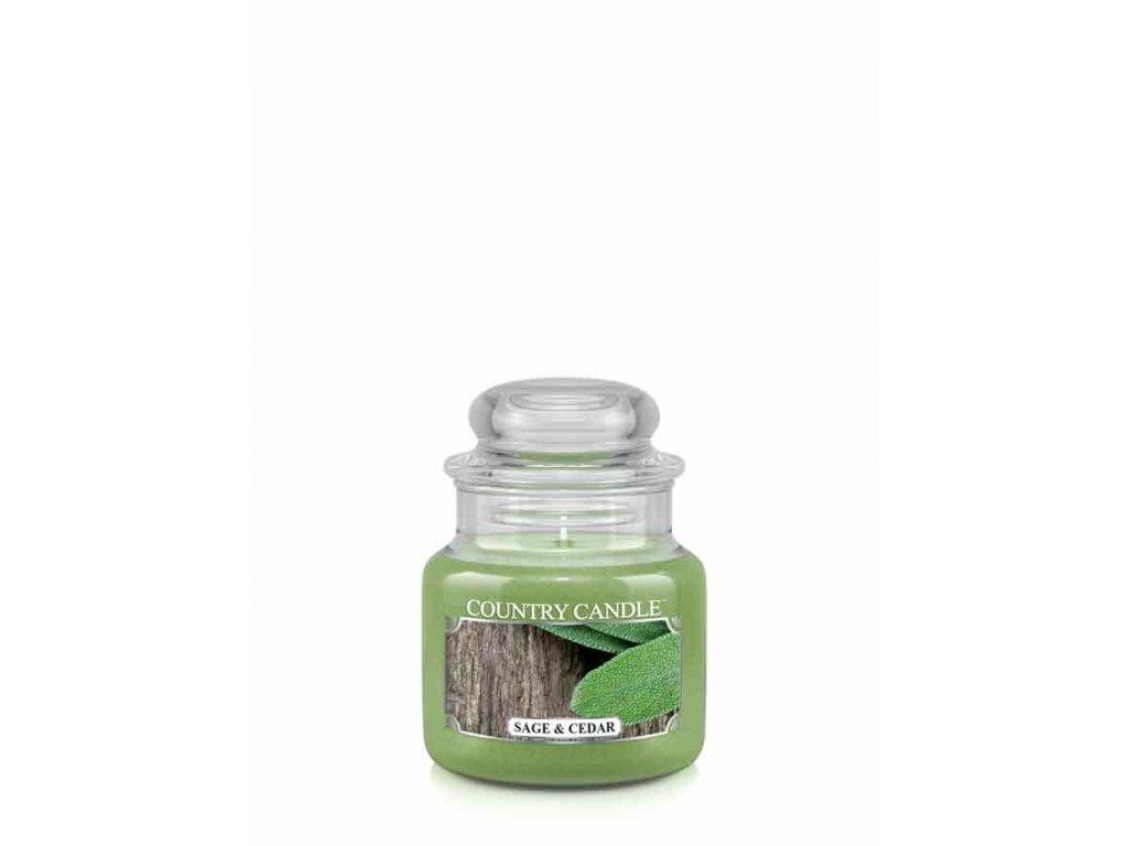 COUNTRY CANDLE Sage & Cedar vonná sviečka mini 1-knôtová (104 g)