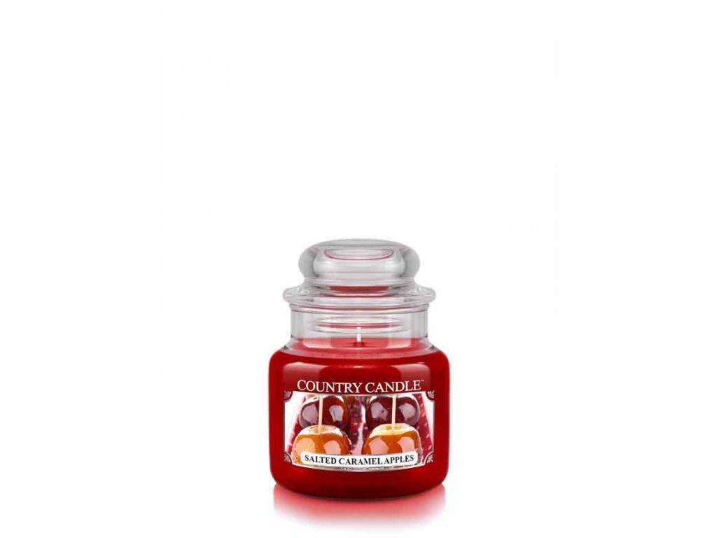 COUNTRY CANDLE Salted Caramel Apples vonná sviečka mini 1-knôtová (104 g)