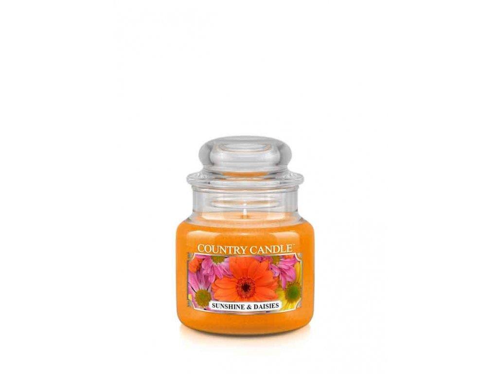 COUNTRY CANDLE Sunshine & Daisies vonná sviečka mini 1-knôtová (104 g)