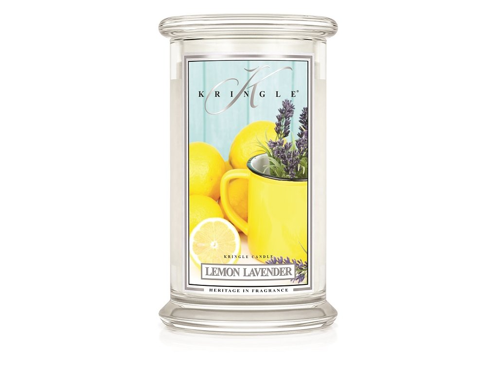 Kringle Candle Lemon Lavender vonná sviečka veľká 2-knôtová (624 g)