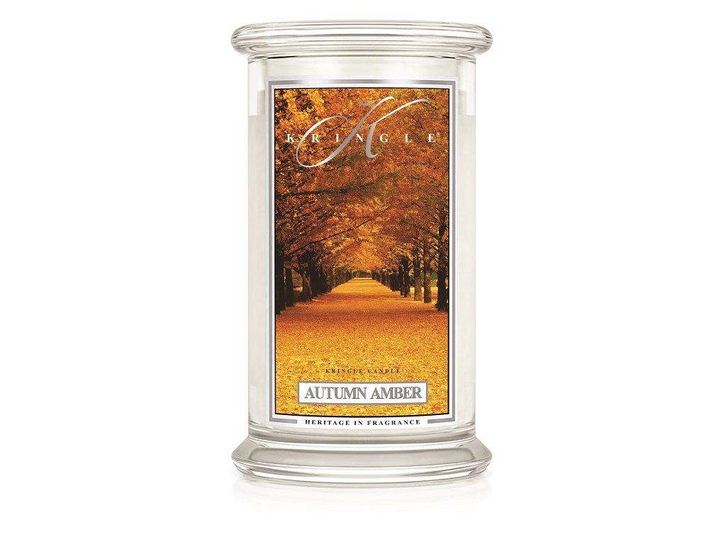 Kringle Candle Autumn Amber vonná sviečka veľká 2-knôtová (624 g)