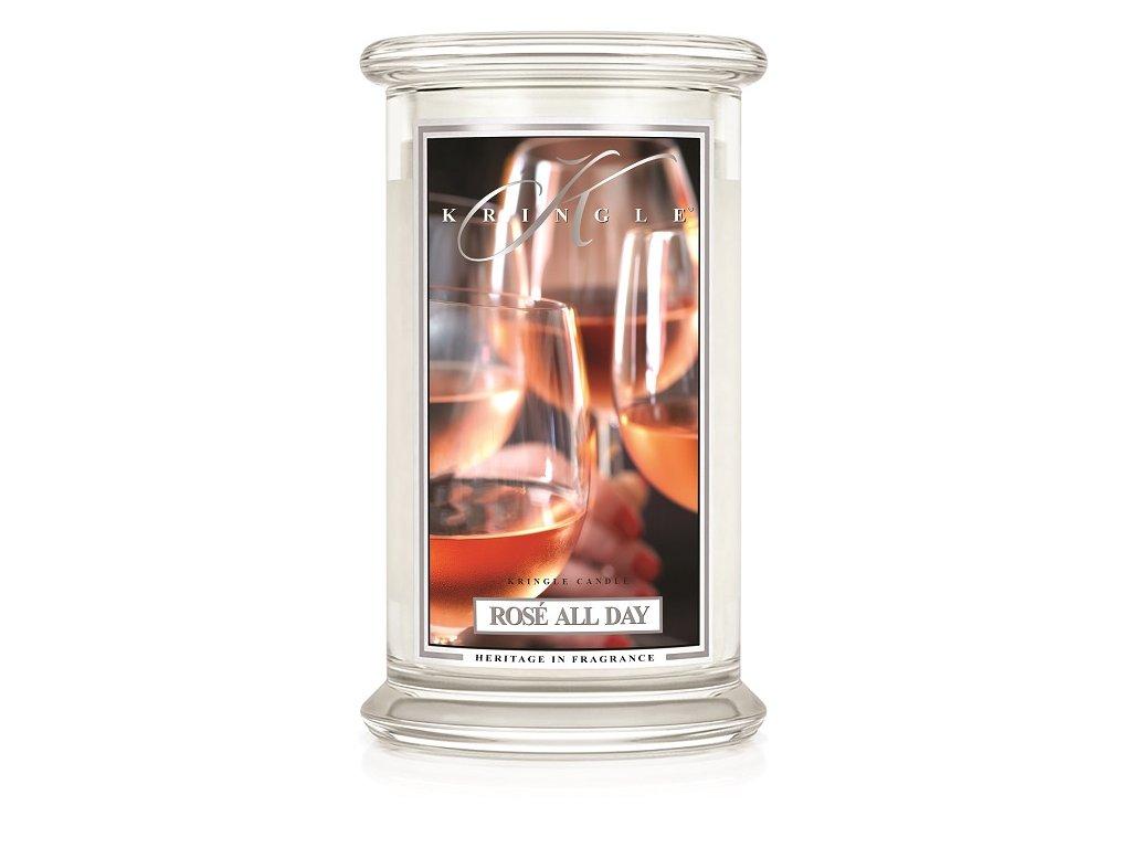 Kringle Candle Rose All Day vonná sviečka veľká 2-knôtová (624 g)