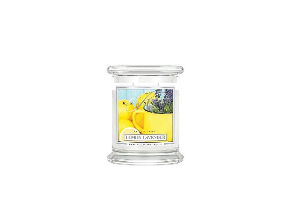 Kringle Candle Lemon Lavender vonná sviečka stredná 2-knôtová (411 g)