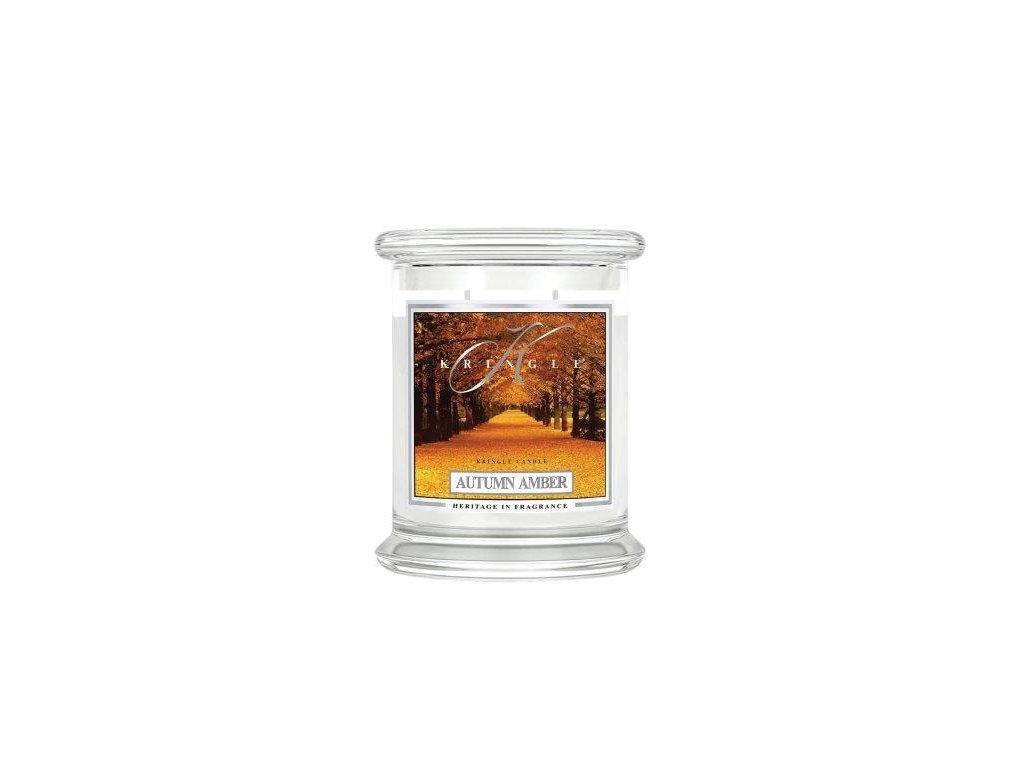 Kringle Candle Autumn Amber vonná sviečka stredná 2-knôtová (411 g)