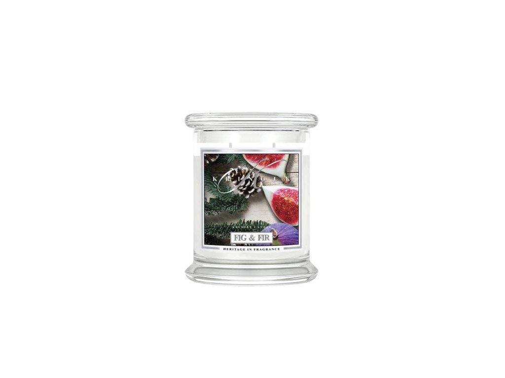 Kringle Candle Fig & Fir vonná sviečka stredná 2-knôtová (411 g)