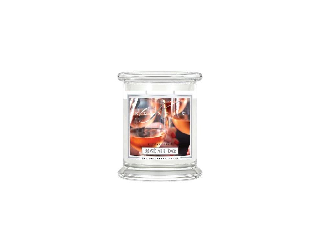 Kringle Candle Rose All Day vonná sviečka stredná 2-knôtová (411 g)