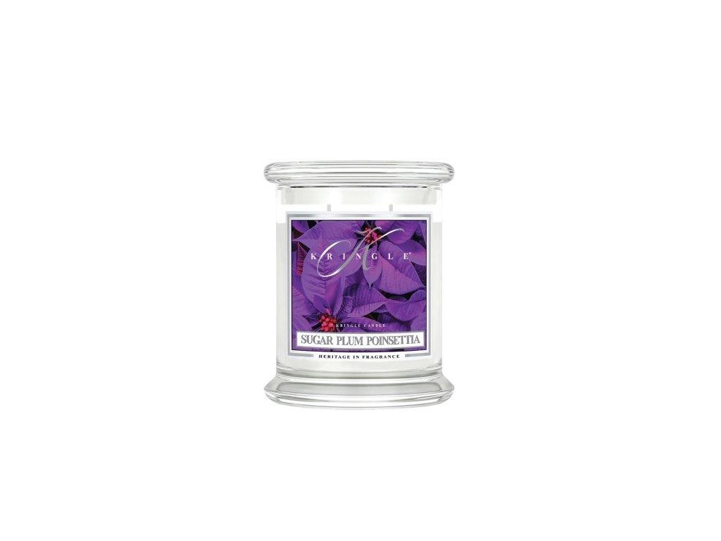 Kringle Candle Sugar Plum Poinsettia vonná sviečka stredná 2-knôtová (411 g)