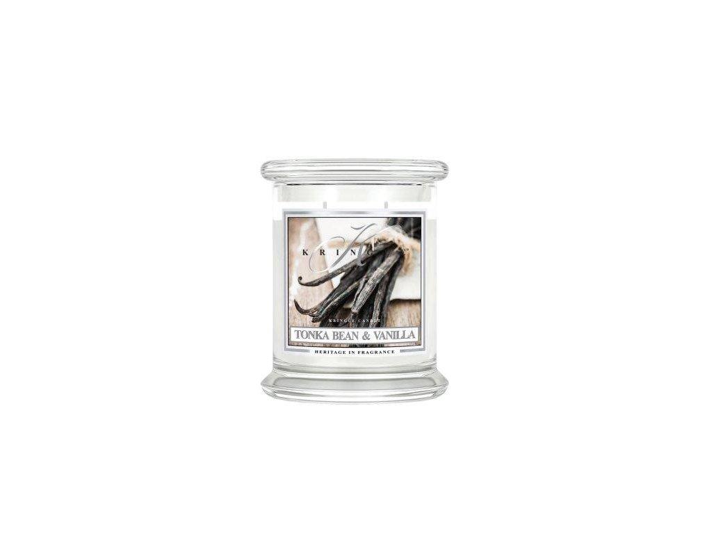 Kringle Candle Tonka Bean & Vanilla vonná sviečka stredná 2-knôtová (411 g)