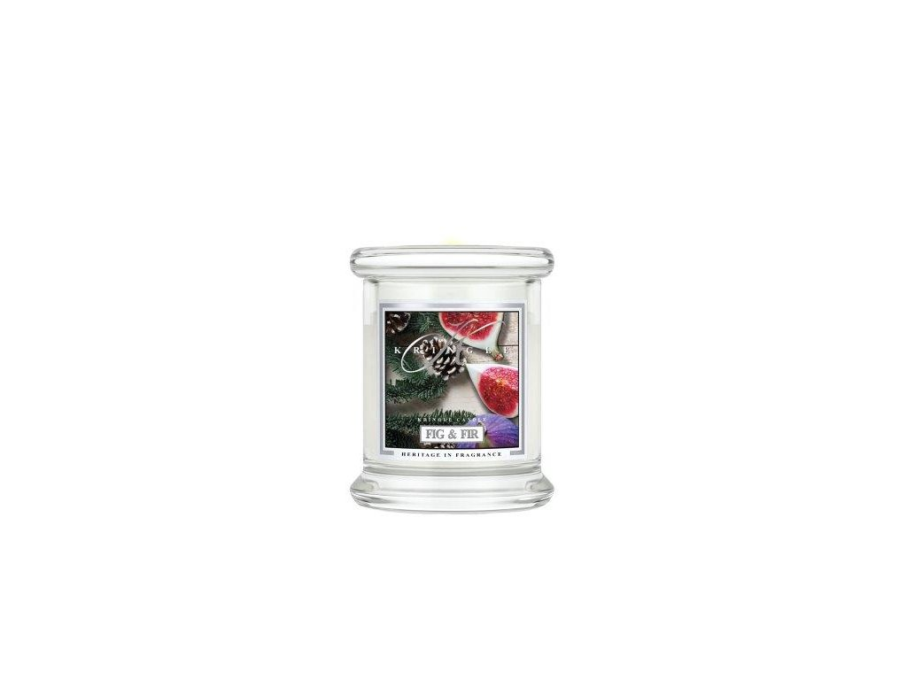 Kringle Candle Fig & Fir vonná sviečka mini 1-knôtová (127 g)