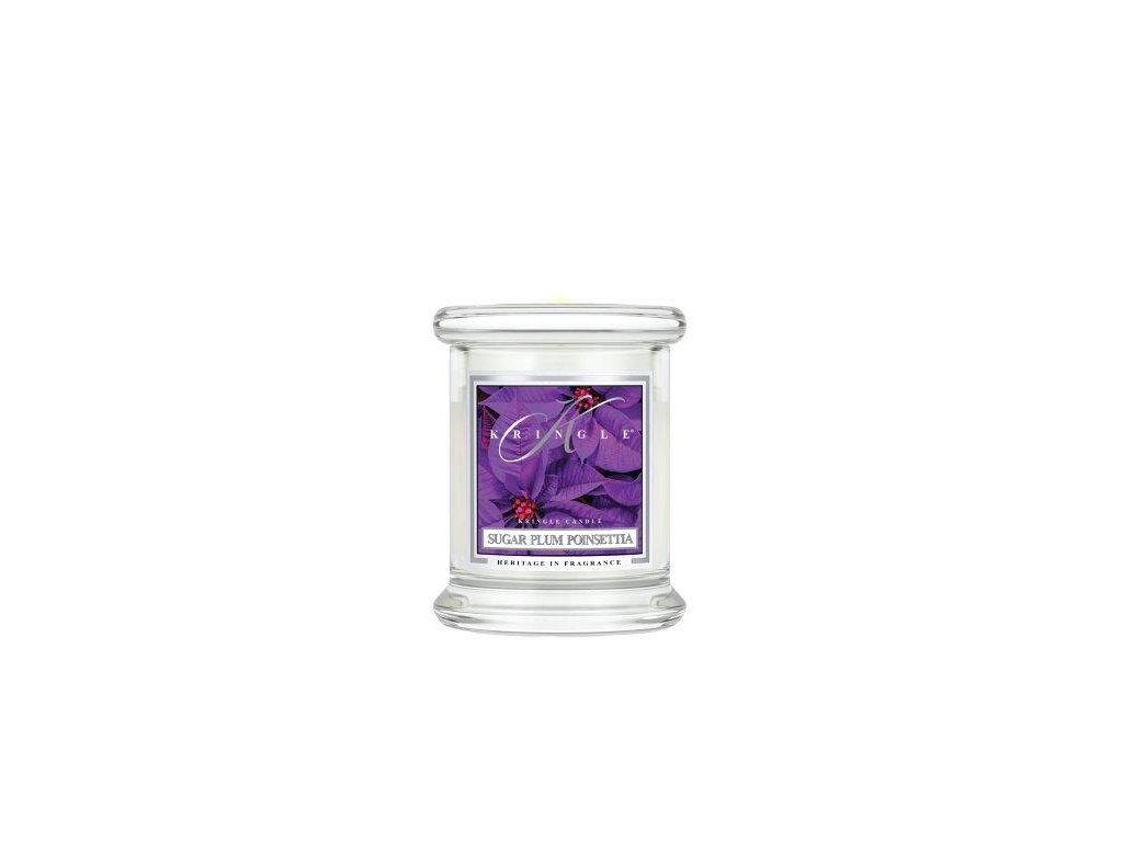 Kringle Candle Sugar Plum Poinsettia vonná sviečka mini 1-knôtová (127 g)