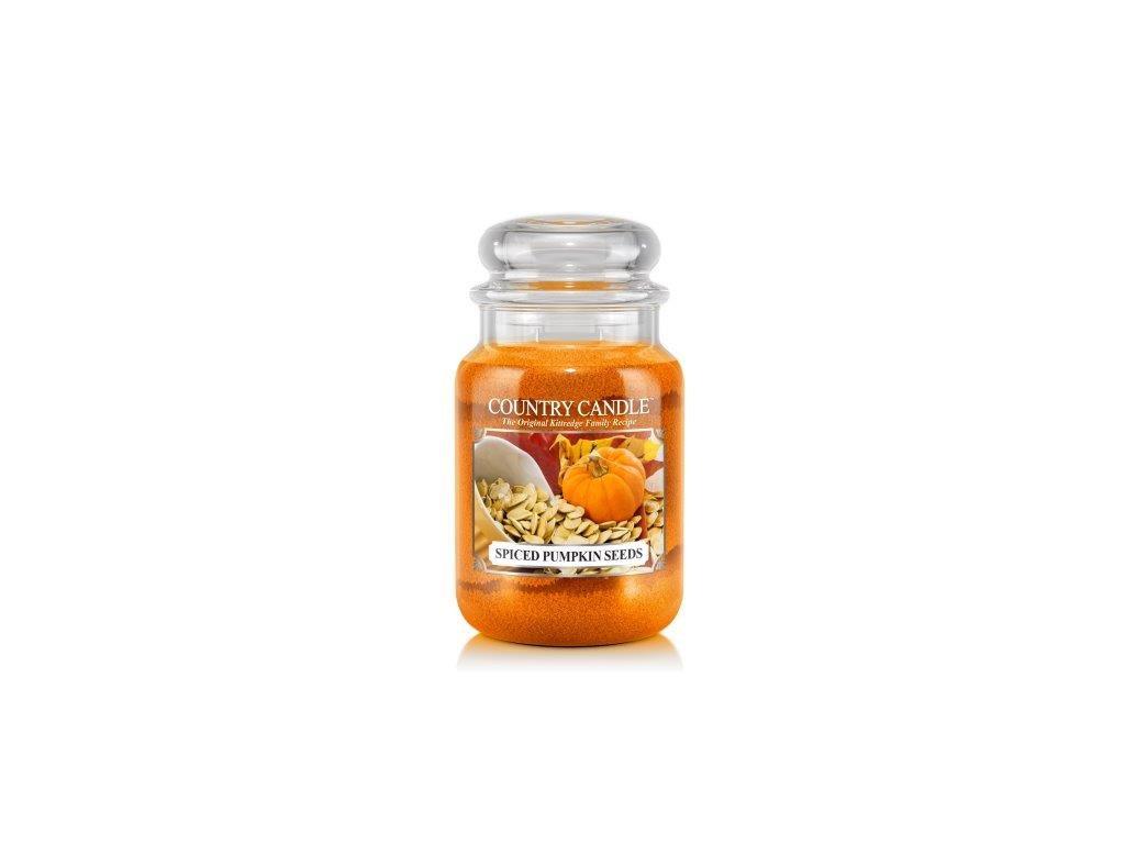 Country Candle Spiced Pumpkin Seeds vonná sviečka veľká 2-knôtová (652 g)