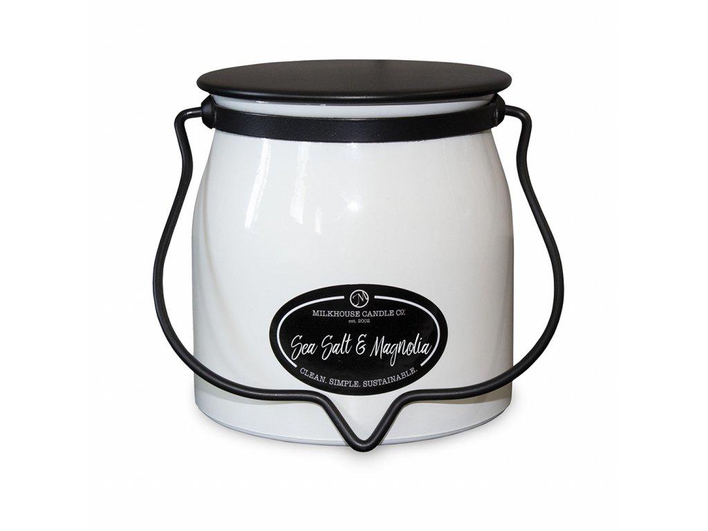 MILKHOUSE CANDLE Sea Salt & Magnolia vonná sviečka BUTTER JAR 2-knôtová (454 g)