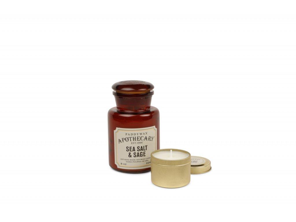Paddywax Apothecary Sea Salt Sage 8oz