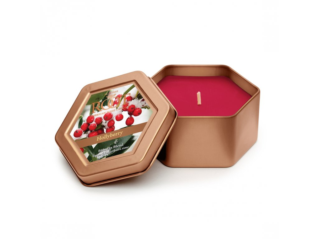 ROOT CANDLES Travel Tin Hollyberry