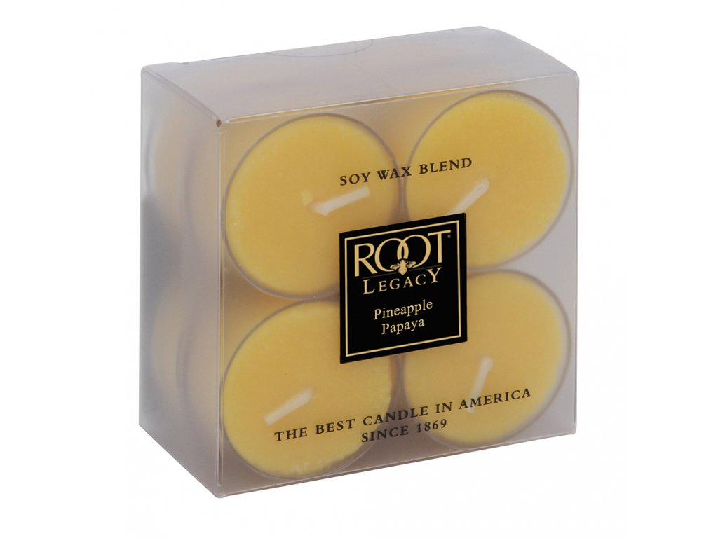 ROOT CANDLES Tea Lights Pineapple & Papaya