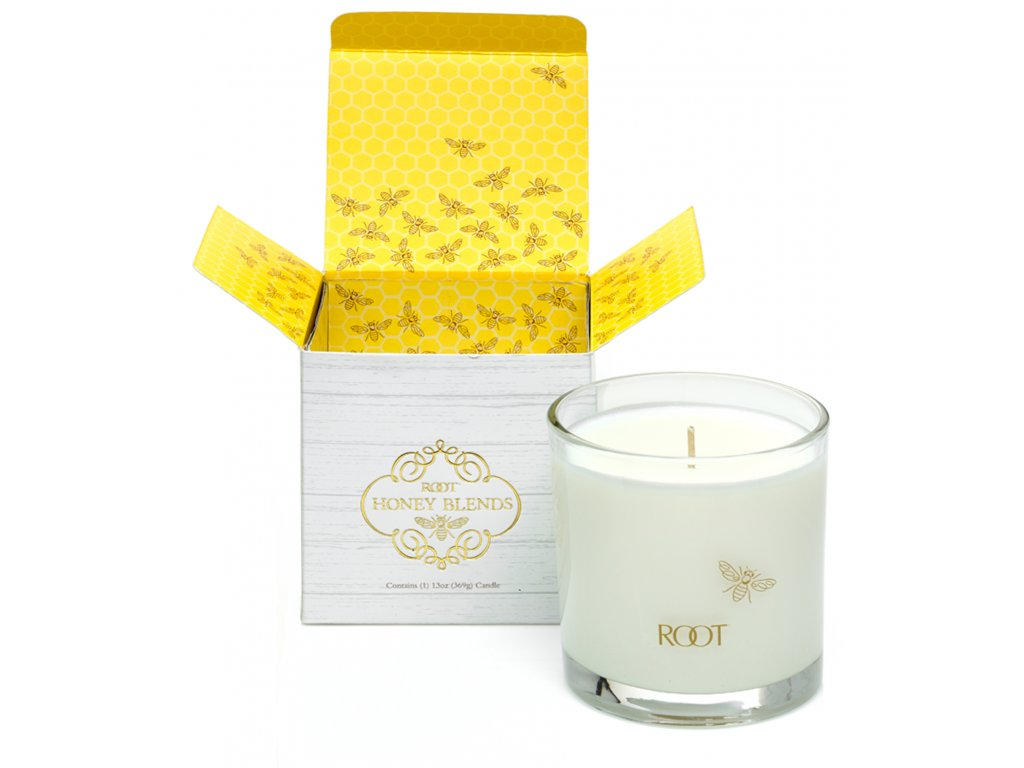 ROOT CANDLES Honey Blends Wooded Honey