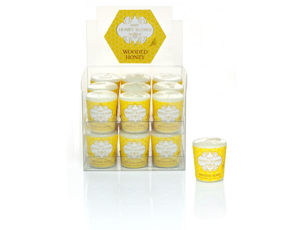ROOT CANDLES Votivo Wooded Honey