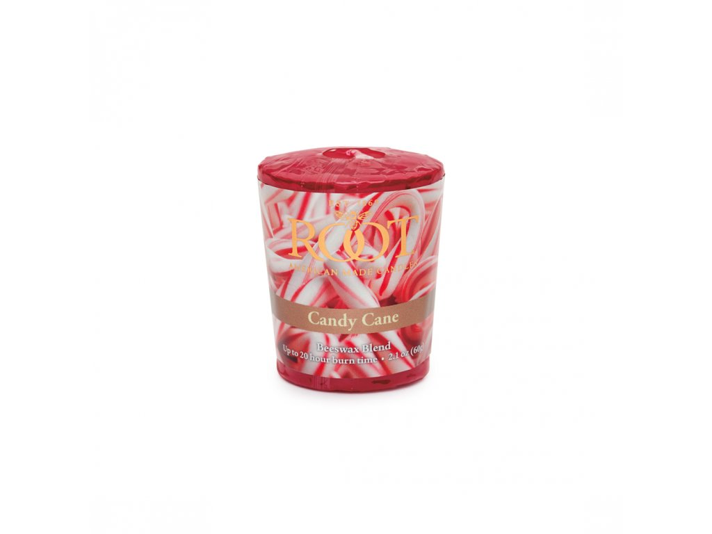 ROOT CANDLES Votivo Candy Cane