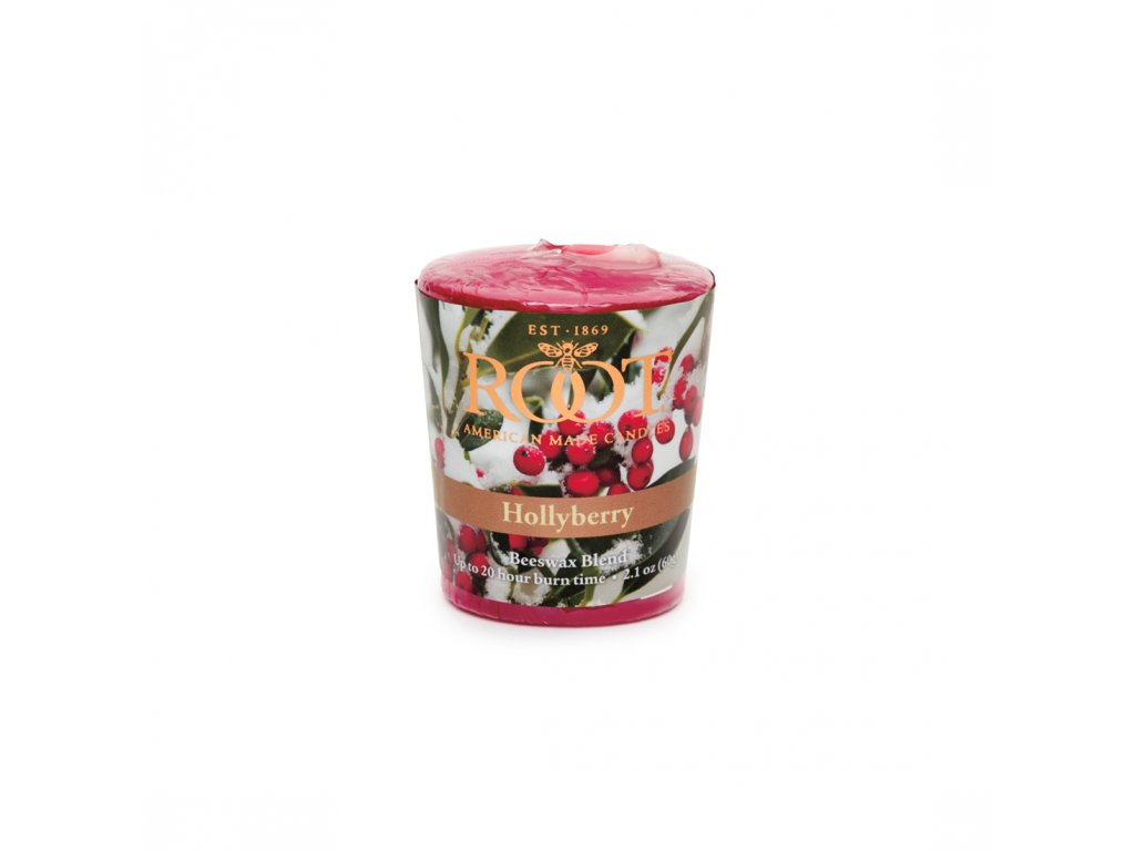 ROOT CANDLES Votivo Hollyberry