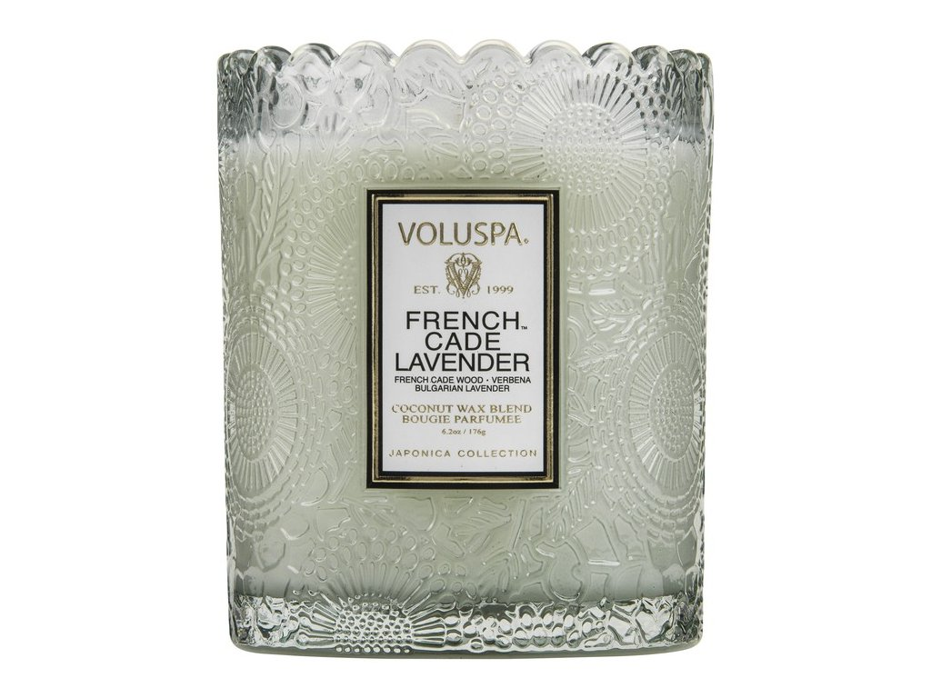 Voluspa Japonica French Cade & Lavender Scalloped vonná sviečka (6.2oz / 176g)