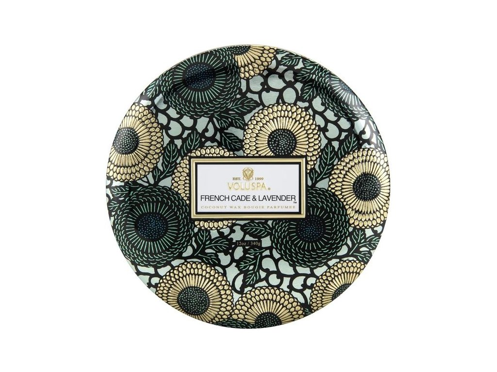 Voluspa Japonica French Cade & Lavender 3 Wick Candle in Decorative Tin