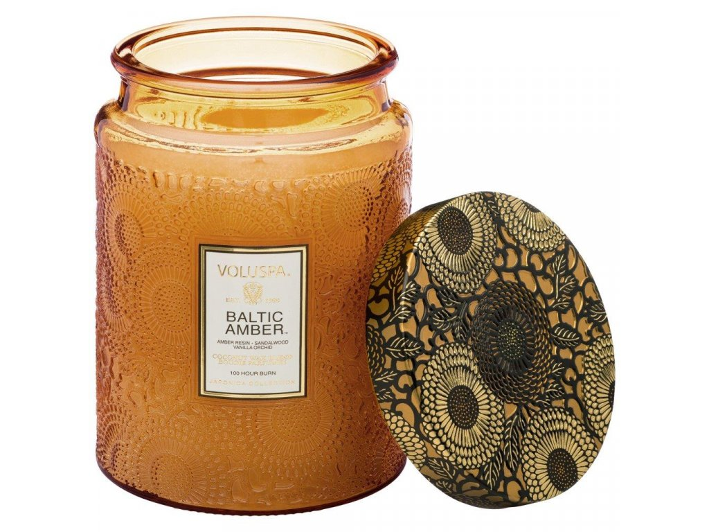 Voluspa Japonica Baltic Amber Large Jar vonná sviečka (16oz / 453g)