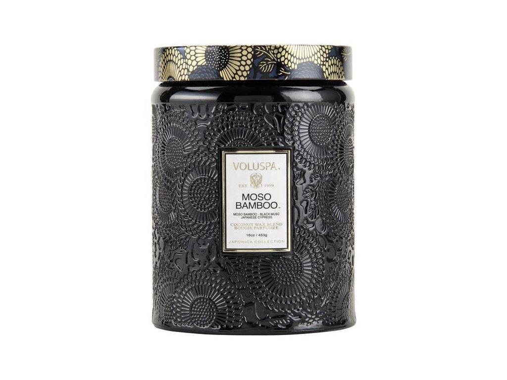 Voluspa Japonica Moso Bamboo Large Jar veľká sviečka (16oz / 453g)