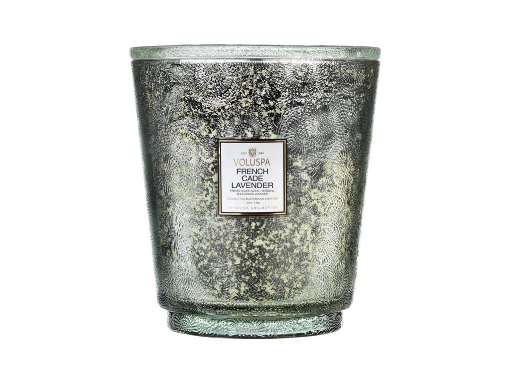 Voluspa Japonica FRENCH CADE LAVENDER 123 oz Hearth Candle with Lid/Tray