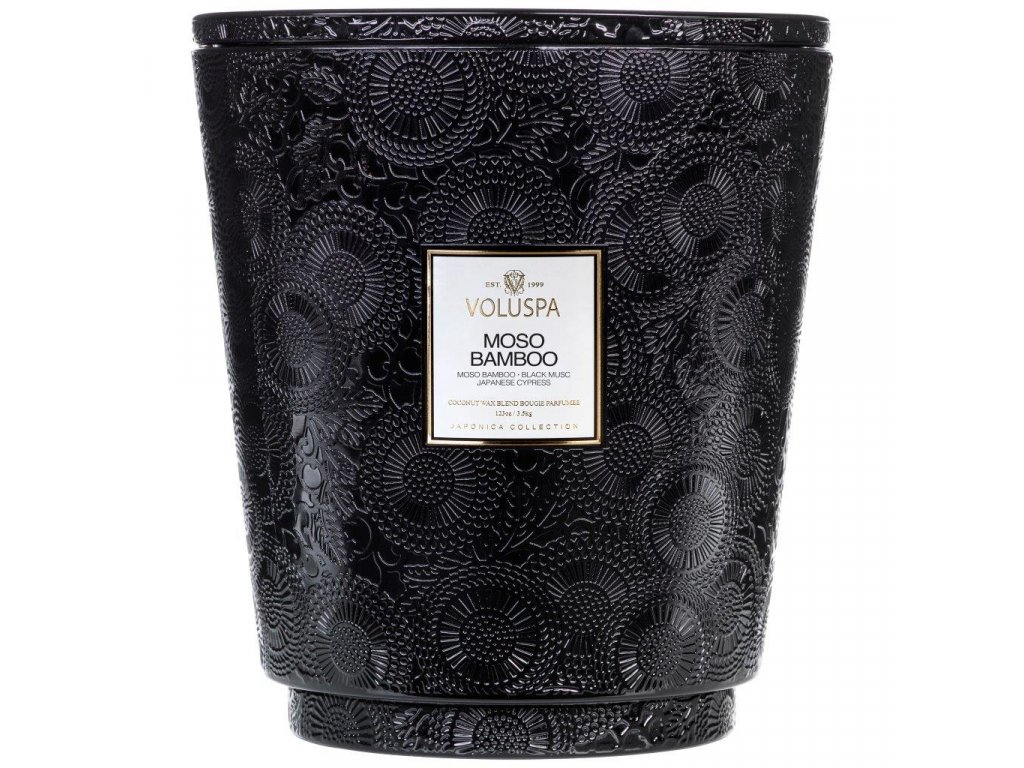 Voluspa Japonica MOSO BAMBOO 123 oz Hearth Candle with Lid/Tray
