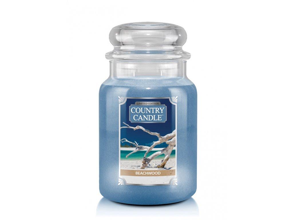 Country Candle Beachwood vonná sviečka veľká 2-knôtová (652 g)