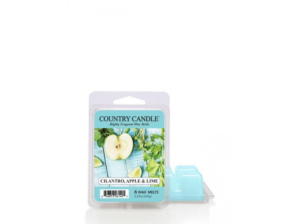 Country Candle Cilantro, Apple & Lime vonný vosk (64 g)