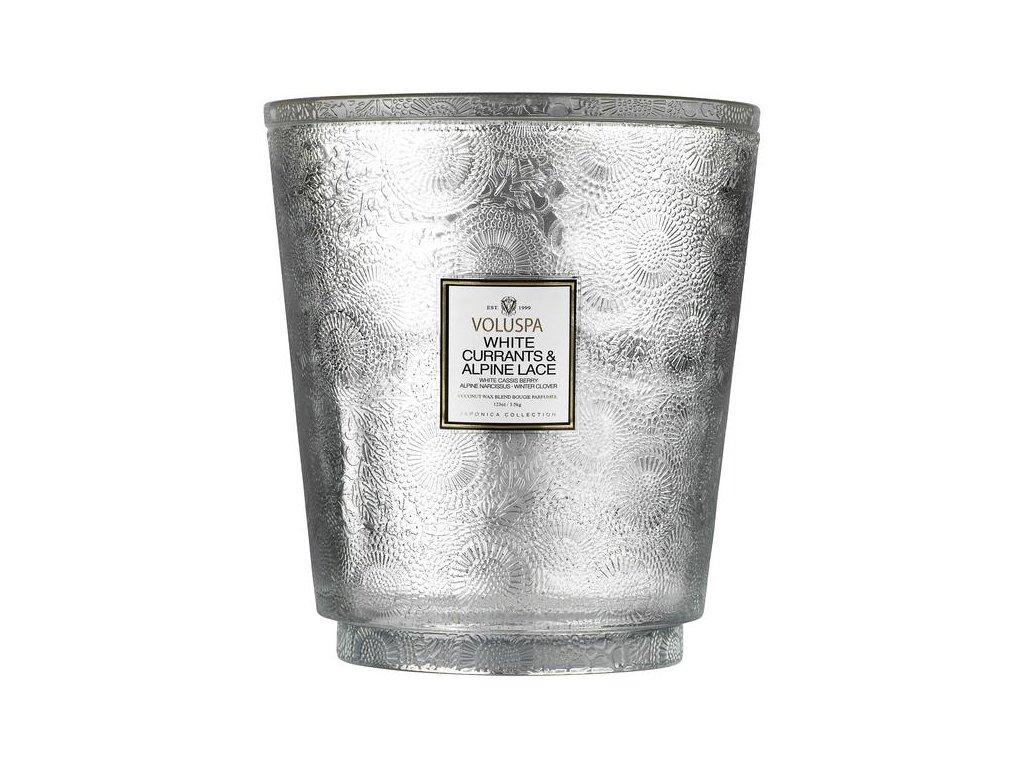 voluspa hearth 5 wick glass candle seasonal white currants alpine vonna sviecka